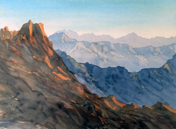 Overlooking Wadi Arkam, Kingdom of Saudi Arabia  2000 Limited Edition Print by  Prince Charles