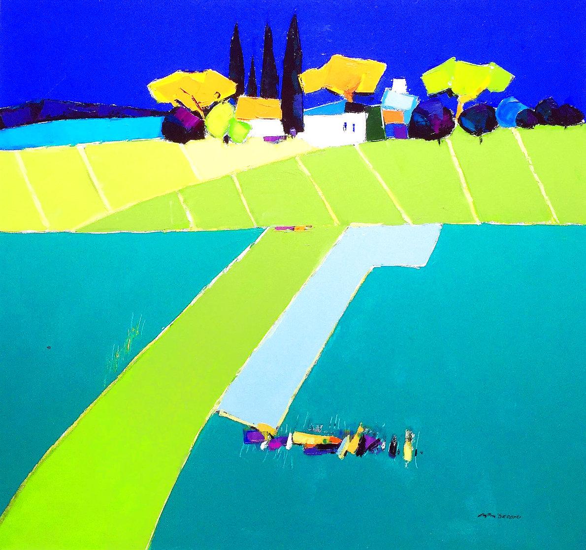European Landscape 2011 37x39 Original Painting by Adrian  Prisecaru