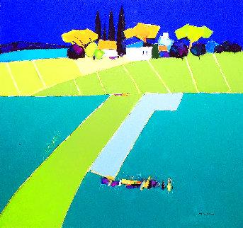 European Landscape 2011 37x39 Original Painting - Adrian  Prisecaru