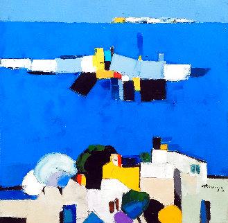 Santorini 2011 16x16 Original Painting - Adrian  Prisecaru