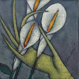 Calla Lily 2000 10x10 Original Painting - Andrei Protsouk