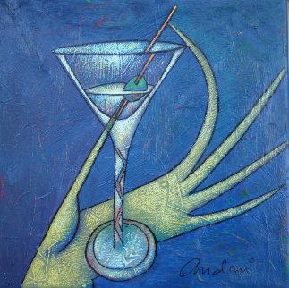 Martini 2002 10x10 Original Painting - Andrei Protsouk