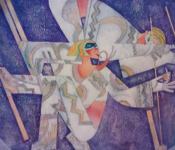 Make-up Slalom  Skiing Collection 2003 Embellished Limited Edition Print by Andrei Protsouk