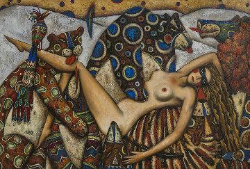 Venus in a Fur 1997 43x60 Original Painting by Andrei Protsouk