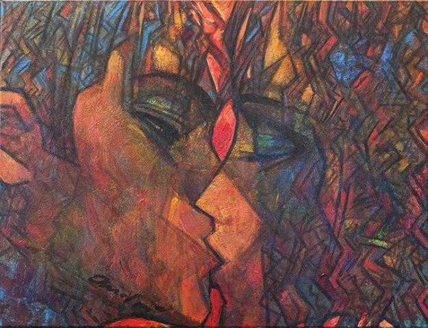 San Diego Kiss 2018 18x24 Original Painting by Andrei Protsouk