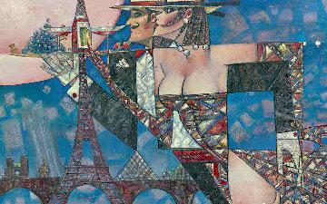 Bonjour Monsieur 2018 34x54 Original Painting by Andrei Protsouk