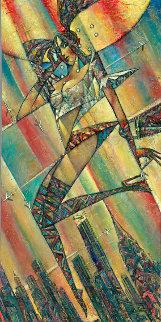 Catching a Flight 2012 48x24 Original Painting - Andrei Protsouk