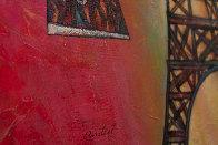 Rouge De La Eiffel 2016 36x24 Original Painting by Andrei Protsouk - 1