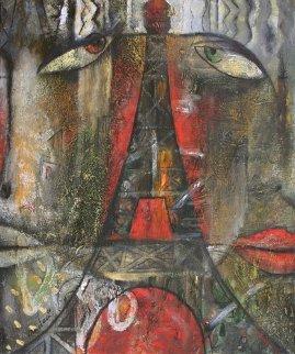 Paris 1990 24x20 Original Painting by Andrei Protsouk