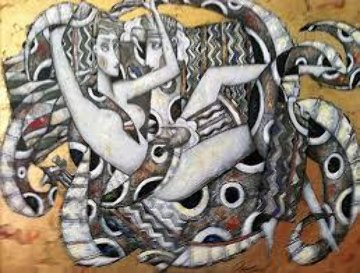 Silver Octopus - Tentacles of Love Collection - Embellished Limited Edition Print by Andrei Protsouk