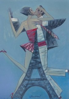 Tango in Paris 2012 22x18 Original Painting - Andrei Protsouk