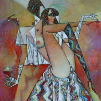 Beauty Treatment 2014 47x47 Super Huge Original Painting - Andrei Protsouk