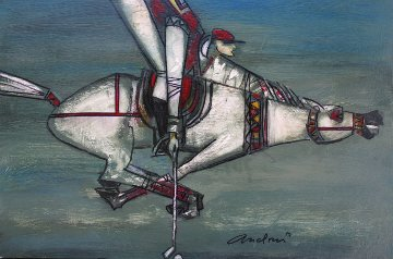 Polo 2014 11x16 Original Painting by Andrei Protsouk