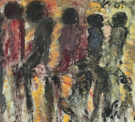 Untitled Painting 1979 44xx48 Original Painting by Purvis Young - 1