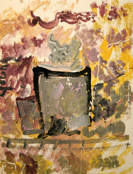 Coffee Cup 30x23 Original Painting by Purvis Young