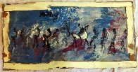 Untitled Painting 21x41 Original Painting by Purvis Young - 1