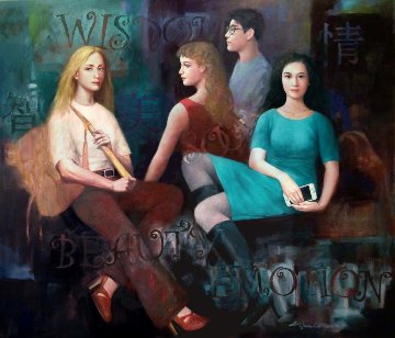 Youth Symbol 2014 50x56 Original Painting by Zifen Qian