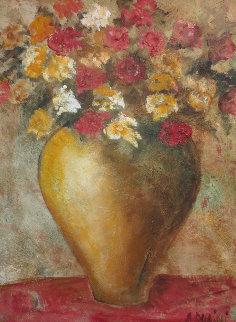 Frores De Mi Cumpleanos 2007 40x30 Super Huge Original Painting - Alicia Quaini