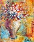 Blowing Air 2002 35x40 Original Painting - Alicia Quaini