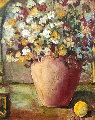 Side Fruit 2002 40x34 Original Painting - Alicia Quaini