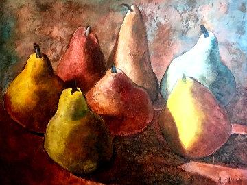 Seven Days 2002 41x51 Super Huge Original Painting - Alicia Quaini