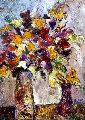 Untitled Still Life 30x24 Original Painting - Alicia Quaini