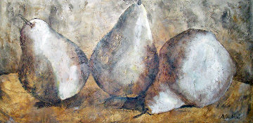Three Pears 41x77 Original Painting by Alicia Quaini