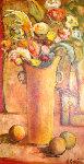 Looking For Profection 1998 58x35 Original Painting - Alicia Quaini