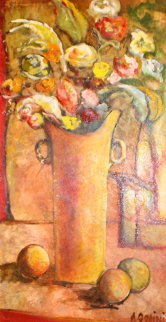 Looking For Profection 1998 58x35 Original Painting by Alicia Quaini