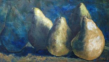 Pears 1993 52x30 Original Painting - Alicia Quaini