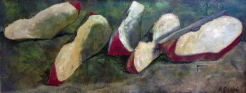 Apples 1993 25x61 Original Painting by Alicia Quaini