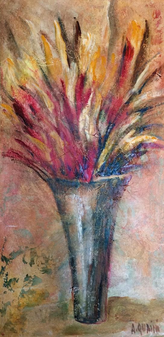 Arcoiris De Mil Colores 2004 34x58 Original Painting by Alicia Quaini