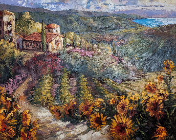 Sunflowers of Tuscany 2003 50x60 Original Painting by Steve Quartly