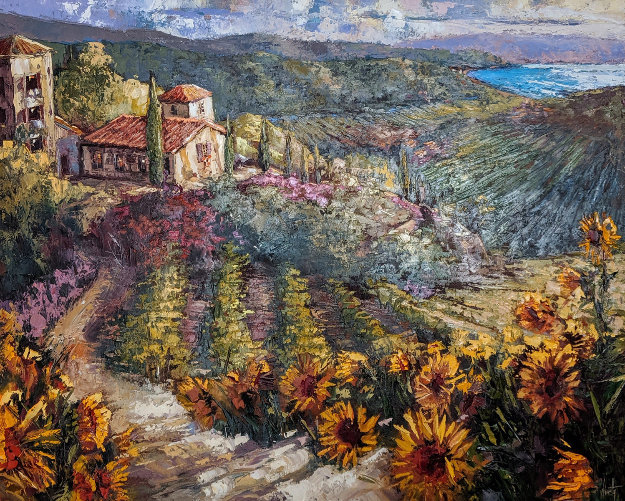 Sunflowers of Tuscany 2003 50x60 by Steve Quartly
