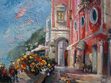 Palazzo Sazzo 30x40 Original Painting by Steve Quartly
