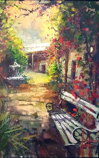 Courtyard Light 42x30 Original Painting - Steve Quartly
