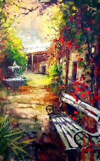 Courtyard Light 2013 42x30 Super Huge Original Painting - Steve Quartly