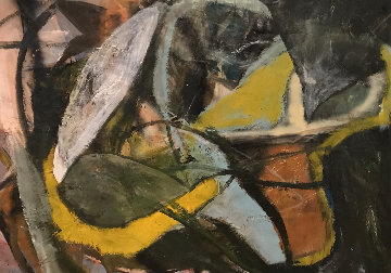 Untitled Abstract Painting 1986 54x65 Original Painting by William Quigley