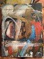 Untitled Painting 1987 24x36 Original Painting - William Quigley