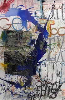 Don't Get Too Excited Over This Just Yet 2019 66x46 Original Painting by William Quigley