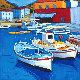 Barques De Pacheurs - Hydra - Grace 2011 Original Painting - Jean-Claude Quilici