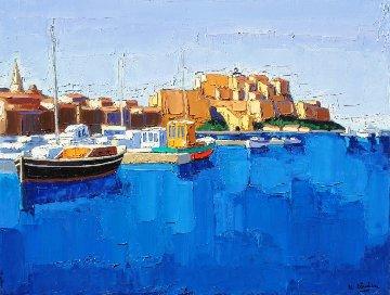 Calvi - Corse 2014 31x45 Original Painting - Jean-Claude Quilici