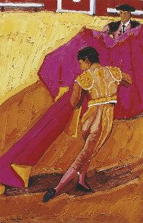 Passe De Cape - Corrida 2000 45x31 Original Painting - Jean-Claude Quilici
