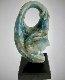 Embrace Blue Onyx Unique Sculpture 21 in Sculpture - Anthony Quinn
