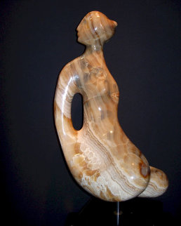 Guinevere Onyx Unique Sculpture 17 in  Sculpture by Anthony Quinn