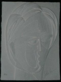 Beluchi Woman Vellum Cast Paper 1982 AP Limited Edition Print - Anthony Quinn