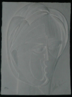 Beluchi Woman Vellum Cast Paper 1982 AP Limited Edition Print by Anthony Quinn