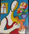 Mother and Child 1988 Limited Edition Print - Anthony Quinn
