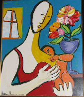 Mother and Child 1988 Limited Edition Print by Anthony Quinn - 0