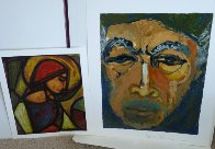 Renaissance Man Suite  a Glance in the Mirror And La Femme Ideale Set of 2 1984 Limited Edition Print by Anthony Quinn - 2